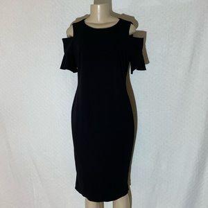 Calvin Klein Black Dress Size: Med Cold Shoulder